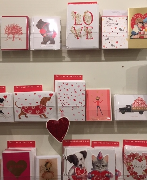 Image of our Valentine's Day Card Display