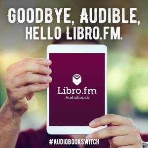 Portable Audio Device with text saying Goodbye Audible, Hello Libro.fm