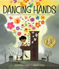 The Front Cover of Dancing Hands by Margarita Engle