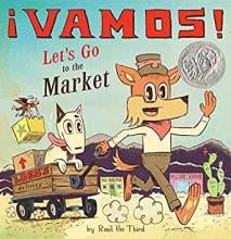 The Front Cover of Vamos! Let's Go to the Market by Raúl the Third